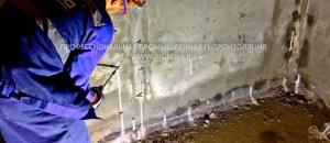 Инъектирование полиуретановой смолы Манопур