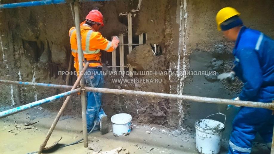 Промышленный ремонт и гидроизоляция бетона СПБ ВОССТАНОВЛЕНИЕ СТЕНЫ В ГРУНТЕ АВТОМОБИЛЬНОГО ТОННЕЛЯ