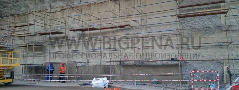 ремонт стены в грунте СВГ автомобильный тоннель