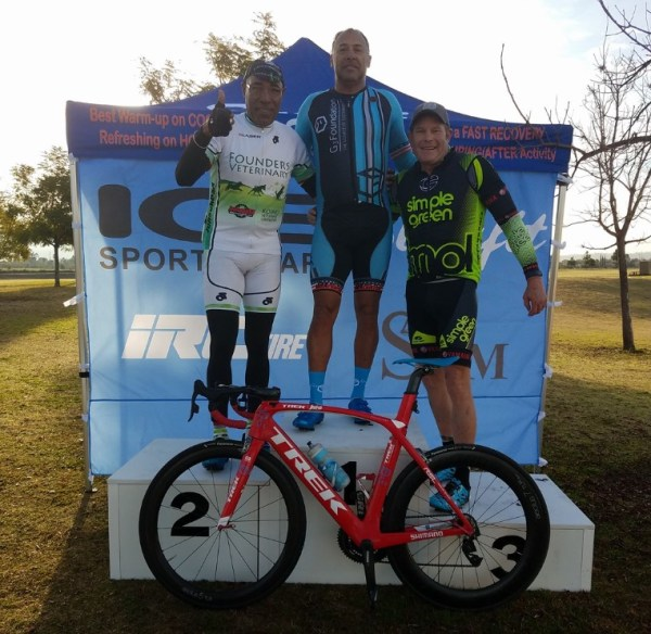 Marvin Hall took GOLD in the master's criterium at Redlands! Our first win of 2017!