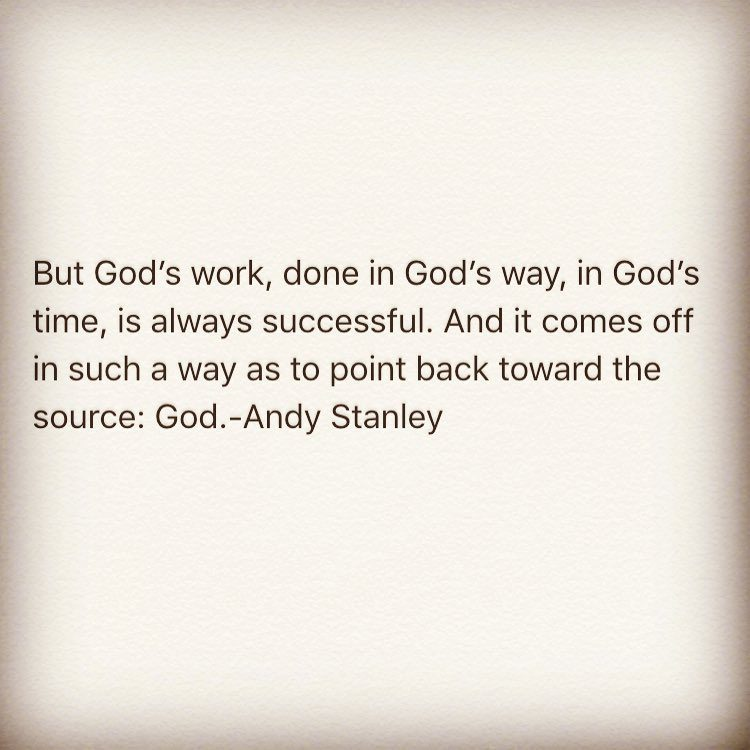 His will. His way. His timing. There is no other.