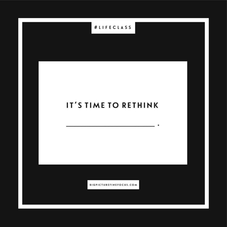 """Welcome to fill-in-the-blank Friday! This week's #fitb is """"It's time to rethink _______."""" Post your responses in the comment section or feel free to respond via Twitter or shoot me a message. Let's get the conversation going!"""