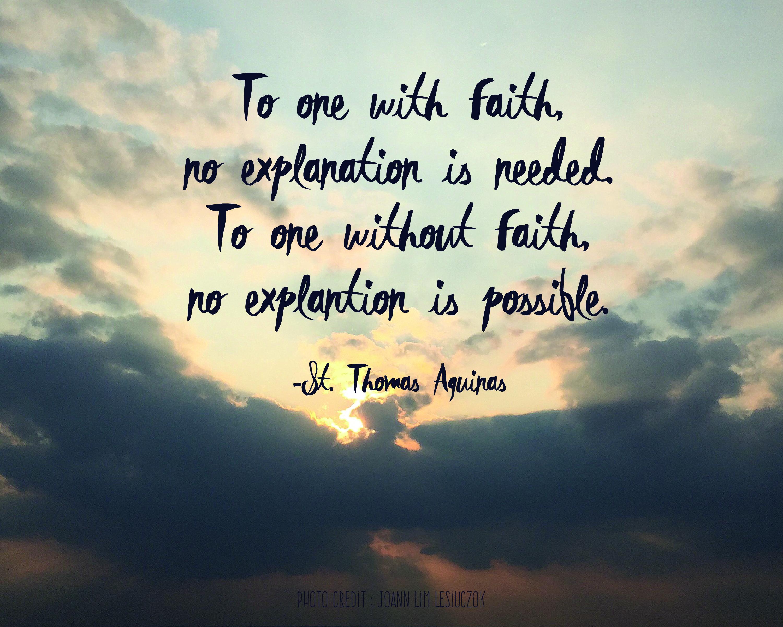 St. Thomas on Faith