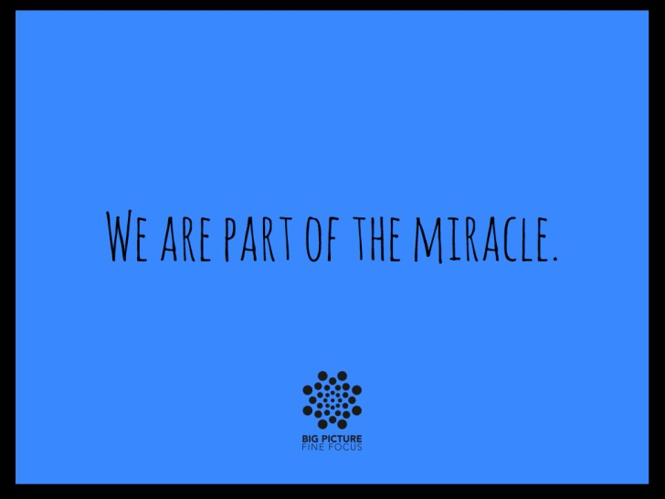 we are part of the miracle