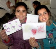 The children at the Za'atari Refugee Camp sent back photos and art.