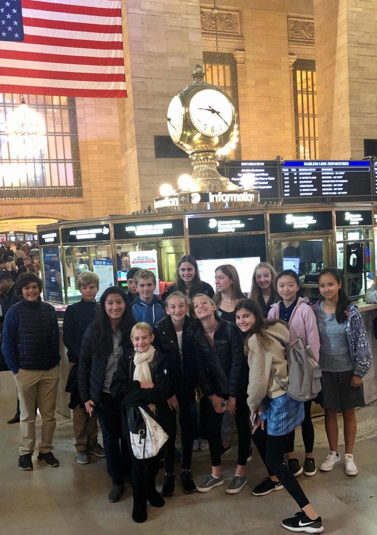 Kids at Grand Central Station
