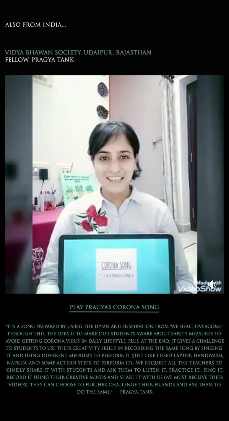 Pragya's Corona virus song