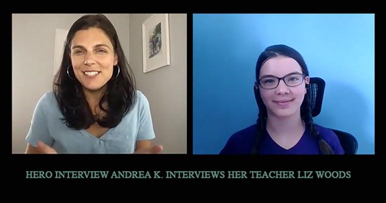 Andrea interviews her teacher Liz Woods