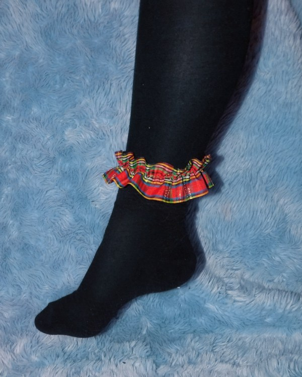 ankle-high-red-plaid-hosiery