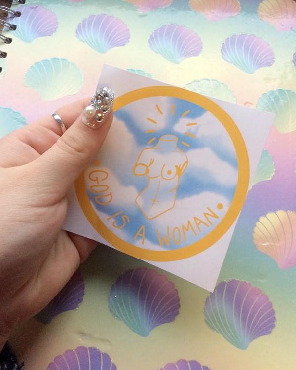 god-is-a-woman-sticker