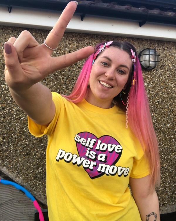 self-love-is-a-power-move-yellow-slogan-tee-shirt