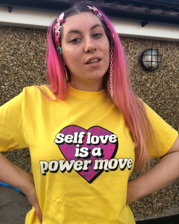 self-love-is-a-power-move-yellow-slogan-tee