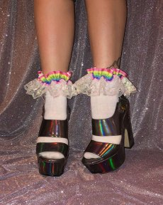 bright-neon-rainbow-stripe-iridescent-lace-socks