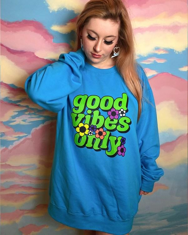 good-vibes-only-blue-unisex-kawaii-sweater-jumper-dress
