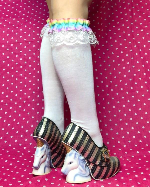 pastel-rainbow-iridescent-white-knee-high-socks