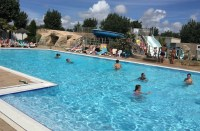 The swimming pool at Les Ecureuils