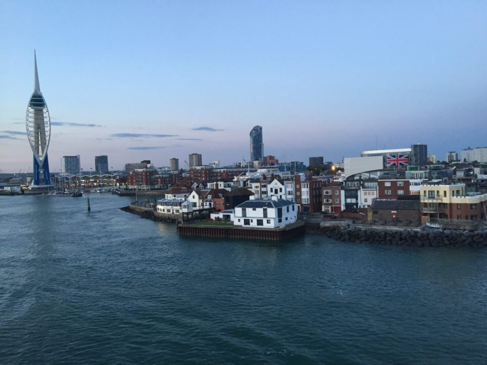 The view of Portsmouth from the Bretagne