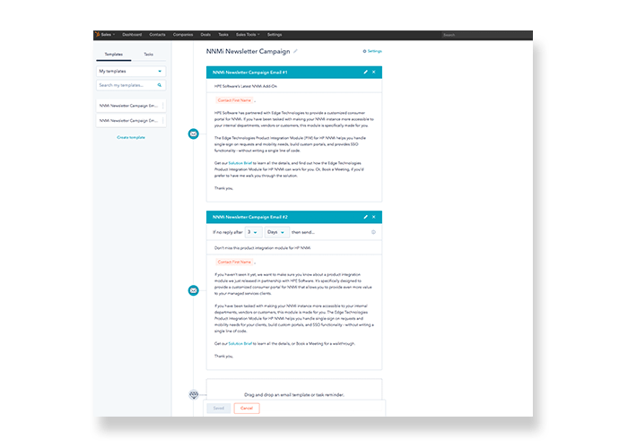 Case Study: A Business Development System for Multiple