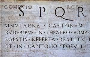 Latin Language SPQR Original Pic