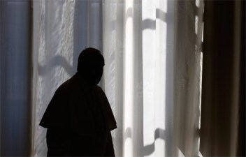 Pope Francis in Shadow Black Silhoutte