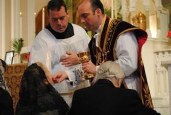 Kneeling Altar Rail Holy Communion Priest