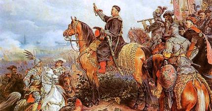 "Juliusz Kossak (1824-1899), ""King John III Sobieski Blessing the Polish Attack in Vienna"""