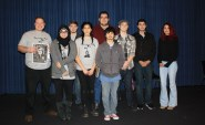 Students who made the tabloid with faculty advisor Phil McMullen