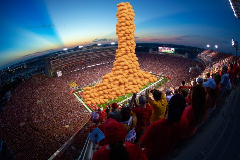 Memorial Stadium filled with Potato Olés