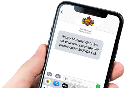 text message promo