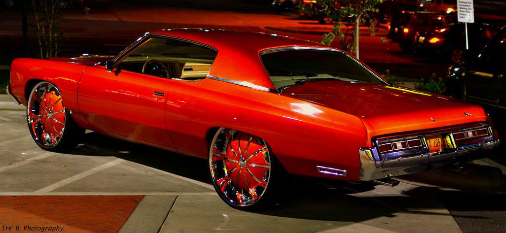 72 Candy Orange Donk On 28s Big Rims Custom Wheels