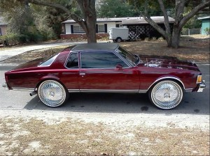 Chevy Caprice Classic 2 dr coupe on 28 dub Floaters  Big Rims  Custom Wheels