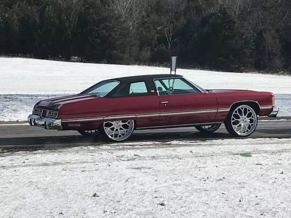 1974 Chevy Caprice Classic 26 Wheels Candy Paint