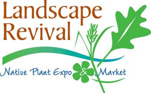 landscape revival, plant expo and market logo