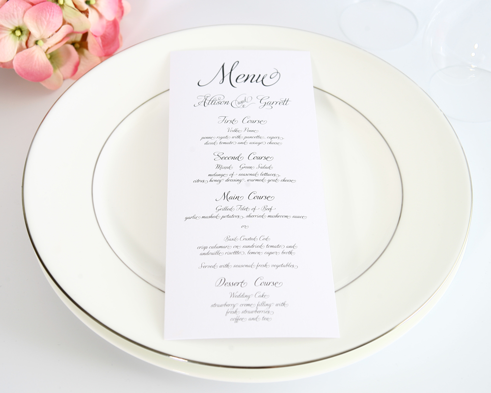 How To Choose Your Wedding Menu