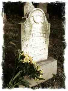 Clara's headstone from my first visit.