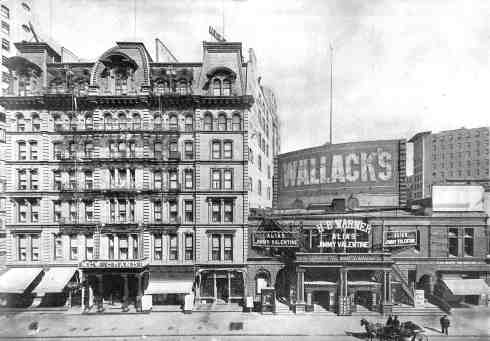 The Grand Hotel (on the left) in New York City