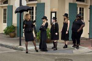 The same spot. The amazing Jessica Lange and cast in a shot from American Horror Story: Coven
