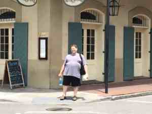 Me in front of the Vacherie restaurant, which is located on the main floor of the Hotel St. Marie, where we stayed in New Orleans.