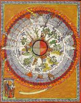 painting of earth by Hildegard of Bingen