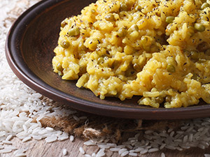 Ktichari on a dish
