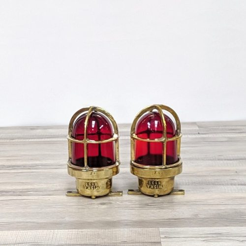 Set of Two Red Portside Navigation Lights