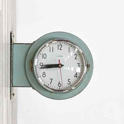 Vintage Double-Faced Clock by Citizen