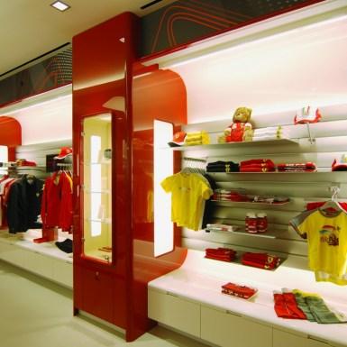 Ferrari Store Custom Shelving