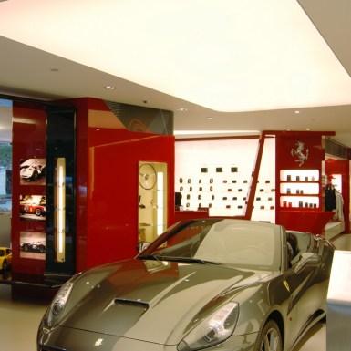 Ferrari showroom and store