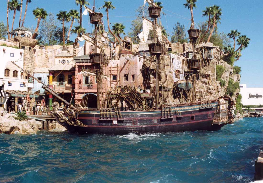 Pirate Ship, Treasure Island in position