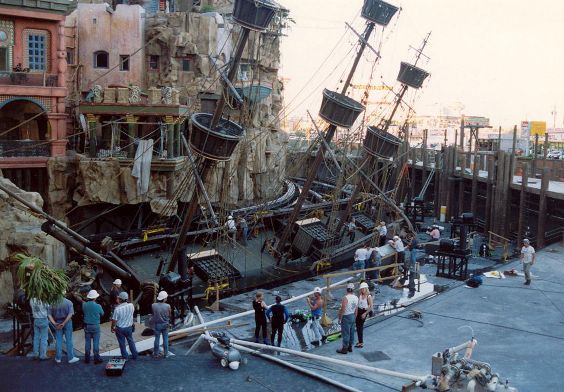 Treasure island ship sinking test