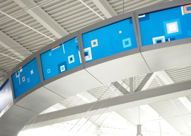Jet Blue T5 Digital Ring Floating Squares