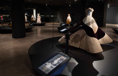 Met Museum Charles James Exhibit Clover Dress Robot and Animation