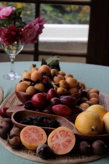 Tropical Fruit and Macadamia Nut Torte https://bigsislittledish.wordpress.com/2013/04/06/tropical-fruit-and-macadamia-nut-torte-from-the-backyard-in-kula-maui-gluten-free/