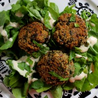 Herb and Amaranth Fritters